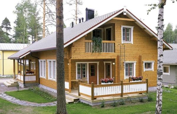 На фото - деревянный финский дом