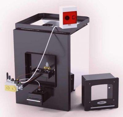 На фото - газовая печь с выносным регулятором температуры.