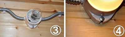 На фото – монтаж проводки и крепление