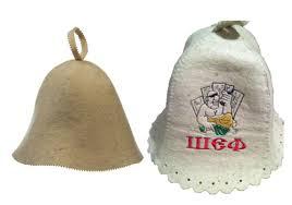 На фото – специальные шапочки для бани