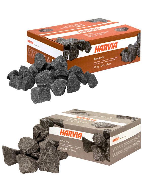 На фото - камни для каменок в упаковках.