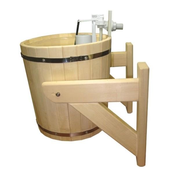 Некоторые обливные ведра для бани оснащены клапанами против перелива.