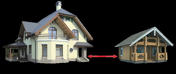 Очень важно верно определить дистанцию от бани до дома.