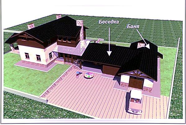 Одна крыша – несколько зданий