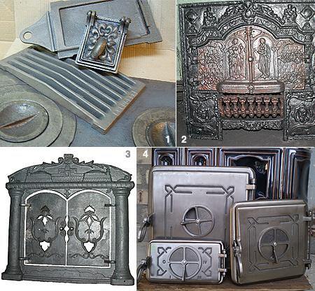 Отдельные элементы из данного металла, которые применяют при создании печей