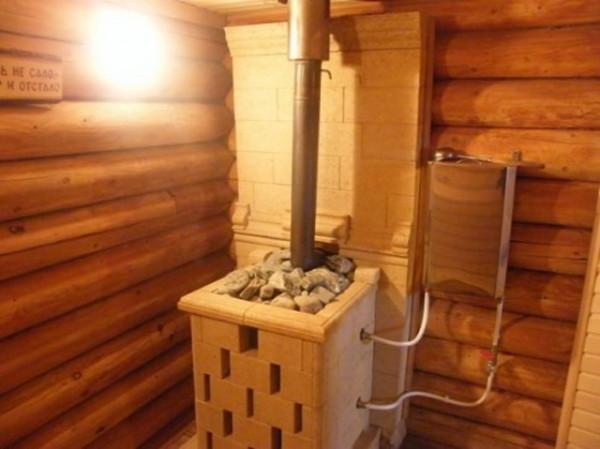 Печь и дымоход в бане