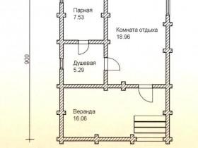 План размещения комнат в подобных конструкциях