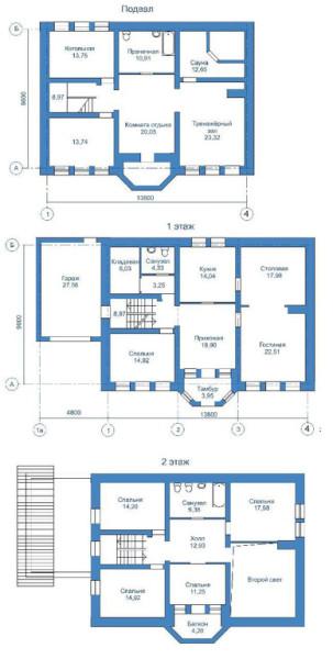 План всех этажей дома