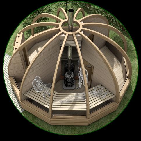 Планировка купольной бани.