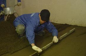 Планировка песочной подушки под стяжку