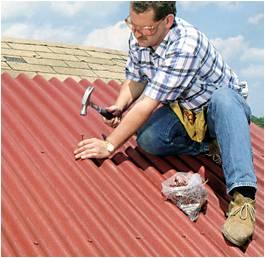 Покрытие крыши еврошифером своими руками