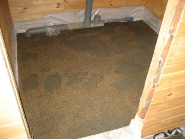Пол из бетона