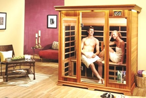 Прекрасный пример сауны для двоих в домашних условиях – инфракрасная сауна