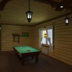 При планировке можно создать дизайн-проект комнаты отдыха с бильярдным столом.