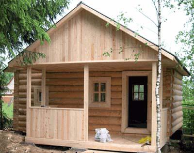 Пример достаточно простого строения, которое можно возвести и самостоятельно и без тщательного проектирования