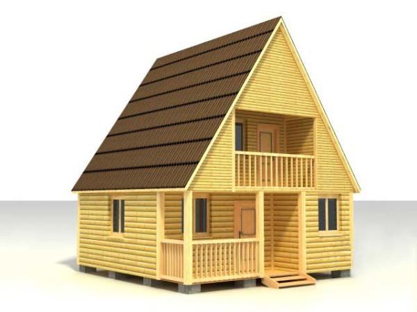 Пример двухэтажного строения с высокой функциональностью
