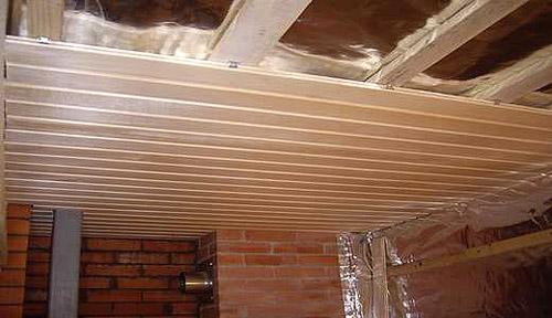 Принцип обустройства подшивного потолка