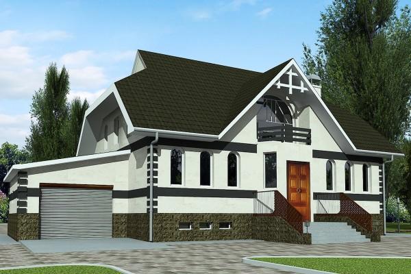 Проект большого дома с сауной на фото