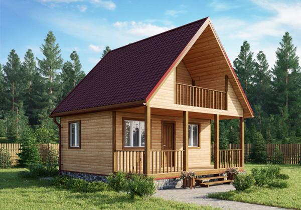 Простая в плане строительства крыша