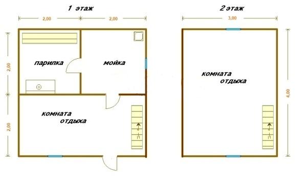 Простой проект на 2 этажа
