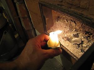 Проверка тяги с использованием свечи