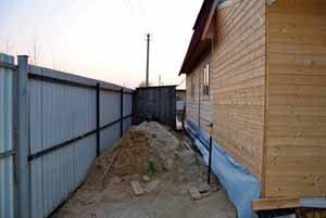 Расстояние от бани до соседнего участка - необходимо выдерживать