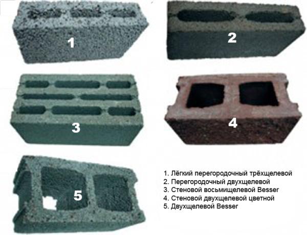 Разновидности керамзитовых блоков