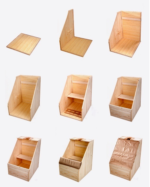 Сборка одноместной деревянной кабины.