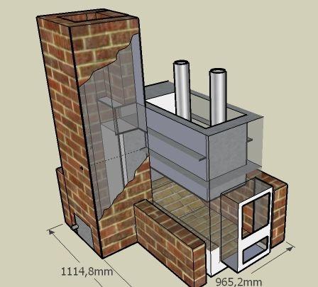 Схема и габариты самодельной конструкции