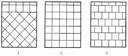 Схема укладки плитки различными способами.