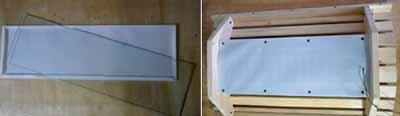 Шестой этап – установка реек для фиксации стекла