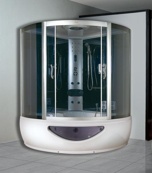 Современная душевая кабина с функцией парилки и ванной
