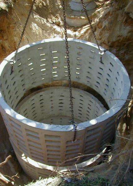 Специальные дренажные кольца для сливной ямы