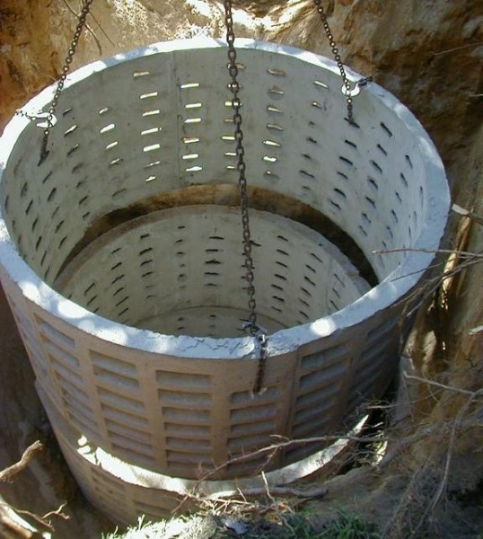 Специальные кольца из бетона