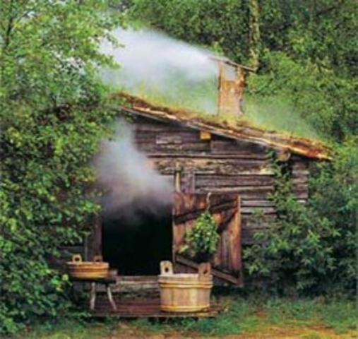 Старинная русская баня.