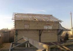 Строительство деревянной бани на дачном участке