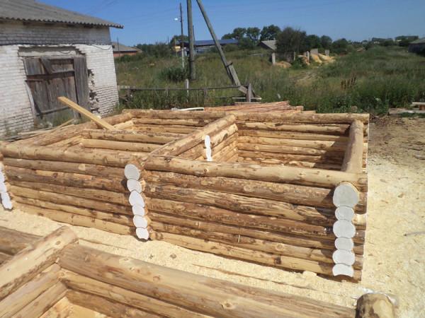 Строительство сруба из осины
