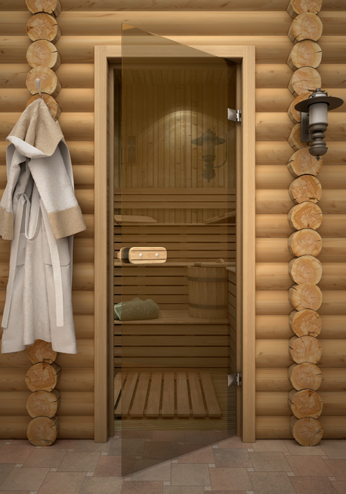 установка стеклянных дверей в сауну