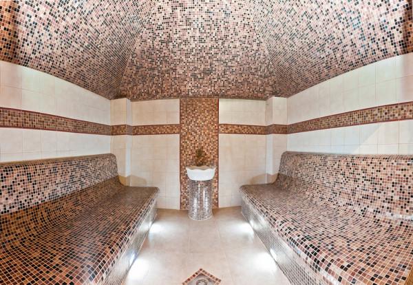 Турецкие сауны облицовывают красивой мозаикой и плиткой