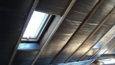 Утепленная крыша бани.