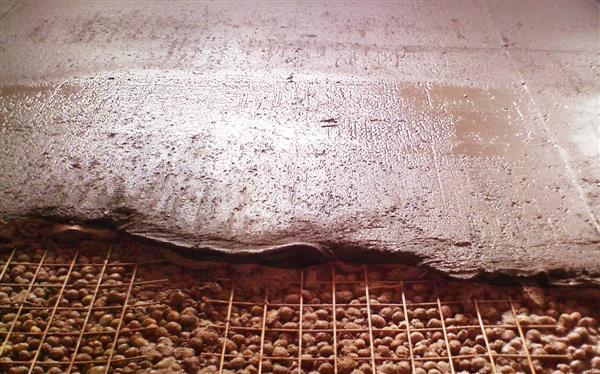 Утепляющий слой из керамзита
