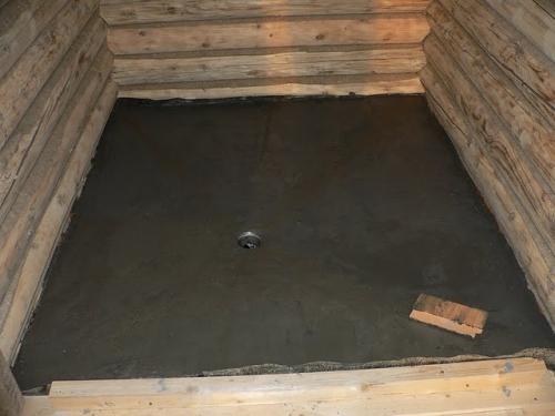 В моечное отделение и в парилку подойдут бетонные полы с послойным утеплением и плиточным покрытием