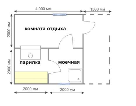 Вариант проекта с тремя комнатами