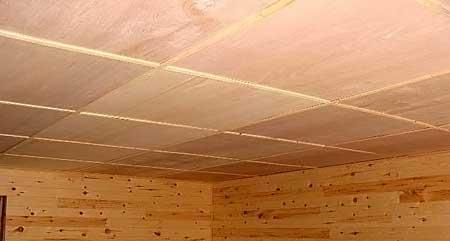 Внешний вид панельного потолка