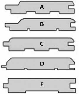 Все 5 самых ходовых профилей подвластны и вагонке из липы (см. описание в тексте)