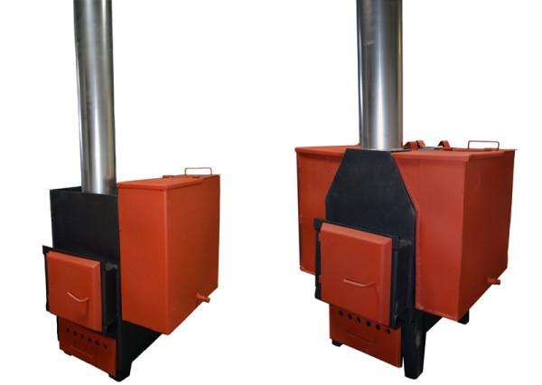 Заводское изделие с одним и двумя резервуарами для подогрева жидкости