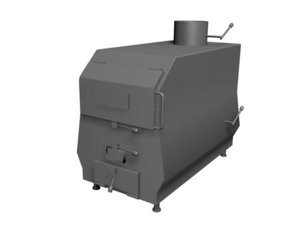 Заводской котел-бойлер для твердого топлива и для природного газа