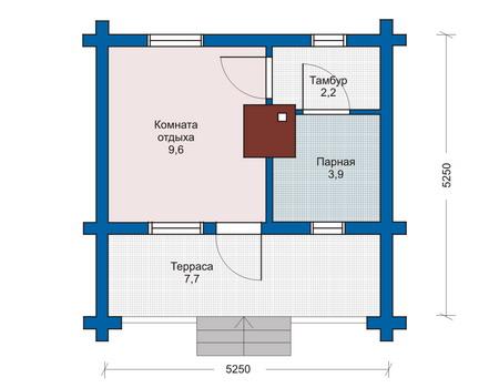 Здесь сохранена общая площадь, что позволило сделать удачную перекомпоновку комнат (проект «D»)